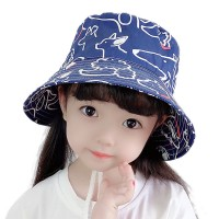 Cotton thin baby hat spring and summer hat animal pattern hat children sunscreen fisherman cap men and women basin new